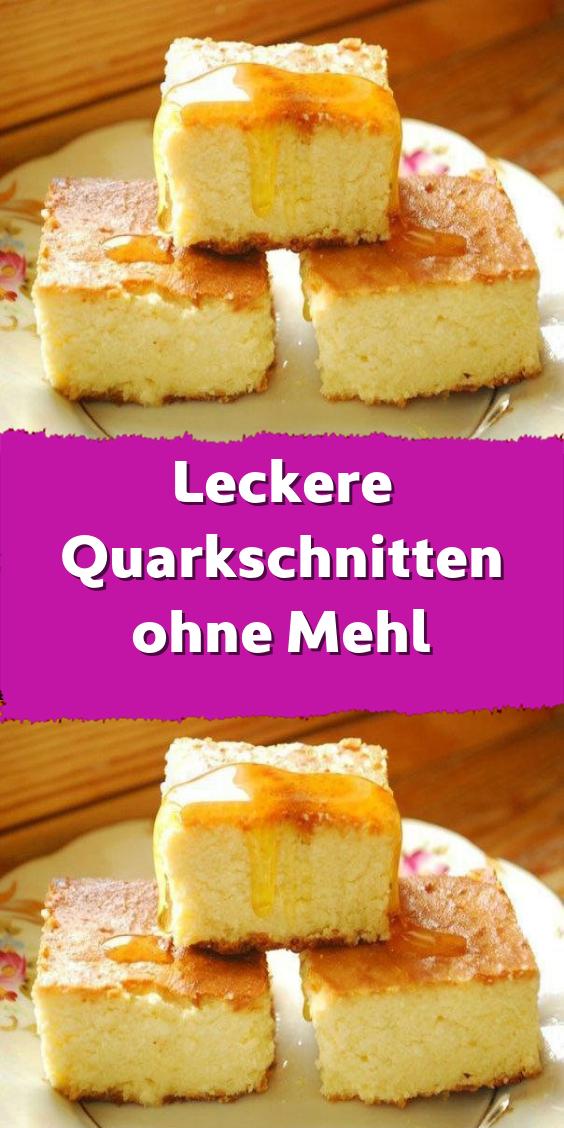 Leckere Quarkschnitten ohne Mehl