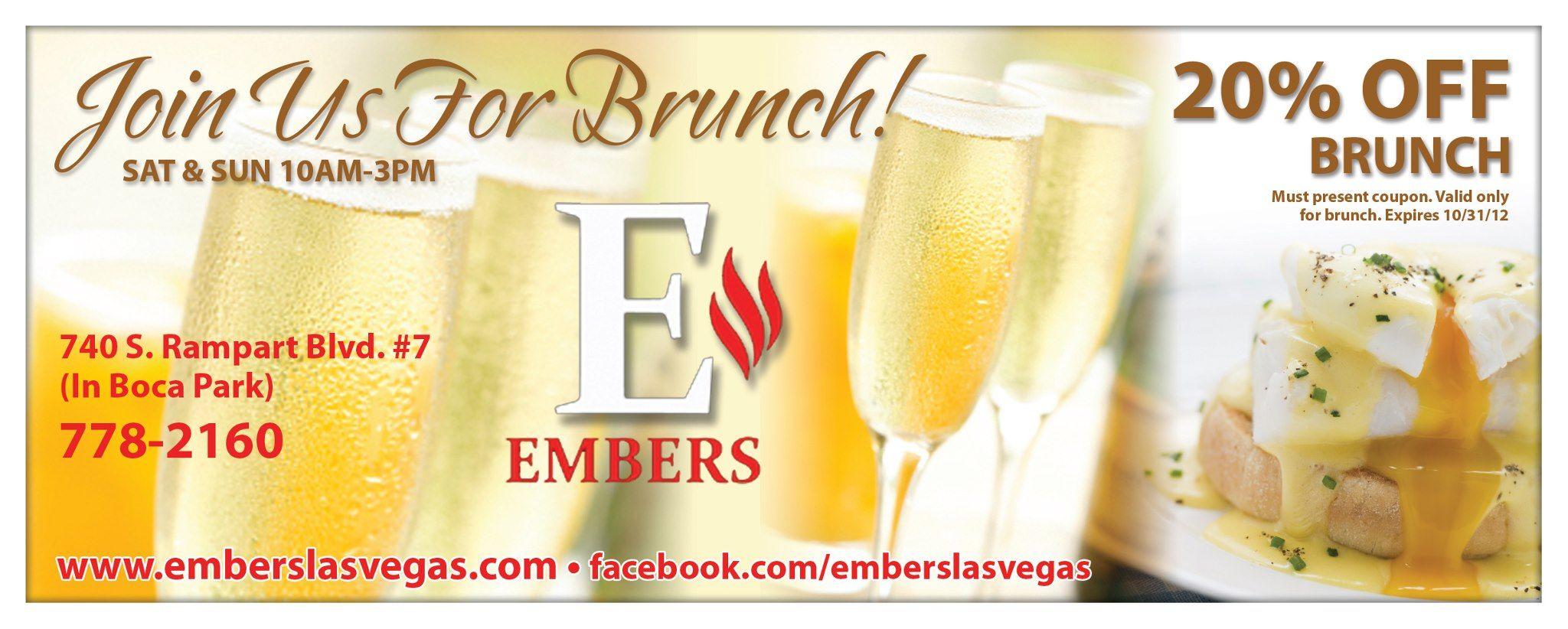 Direct Mail Design for Ember's Las Vegas