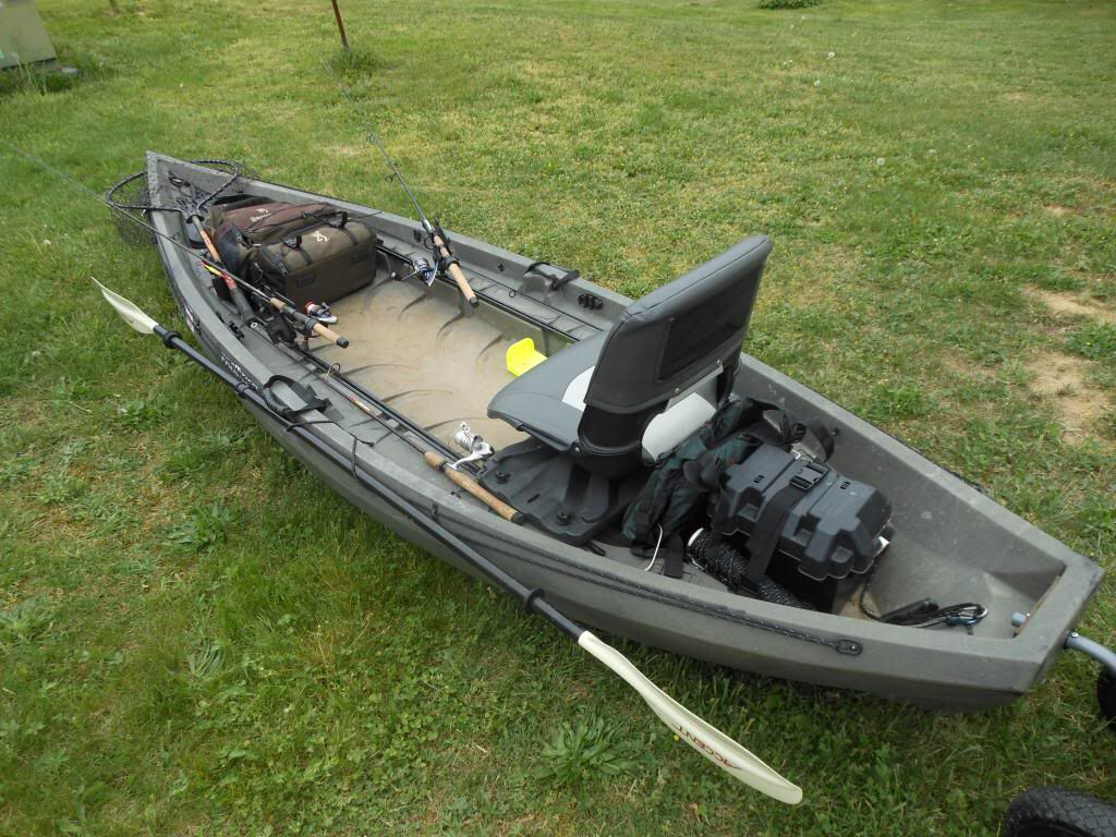 Soon To Have This Nucanoe Frontier I Already Have The Motor For It Angler Kayak Kayak Boats Best Fishing Kayak
