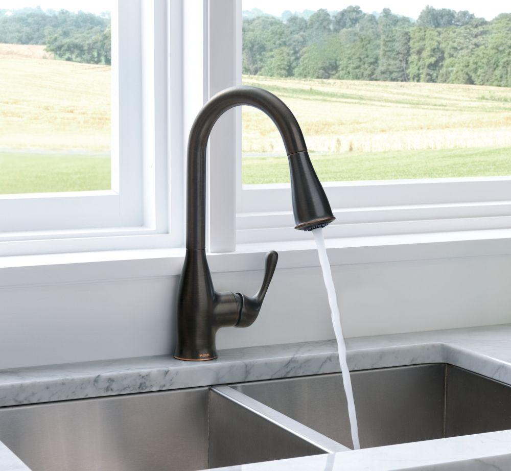 Kaden Mediterranean bronze one-handle kitchen faucet -- 87966BRB ...