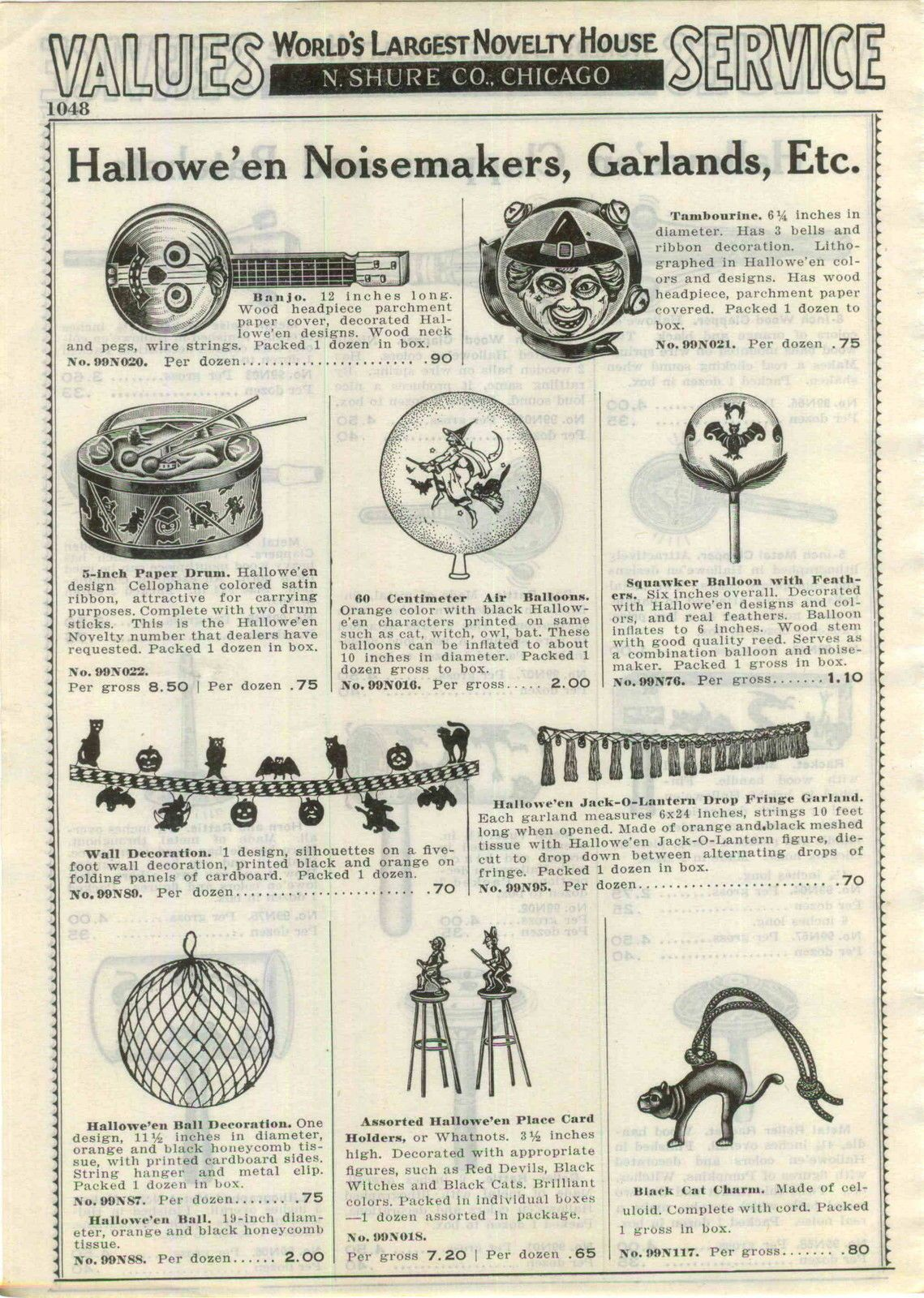 1937 advertisement 4 pg halloween decorations clappers noise makers lanterns ebay - Ebay Halloween Decorations
