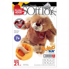 Plush Hearts - DIY Plush - Dog with a bowl and bone 21cm