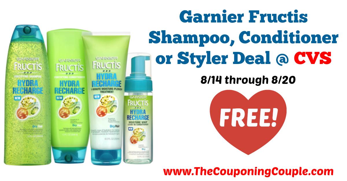 *FREE* Garnier Fructis Shampoo, Conditioner or Styler Deal
