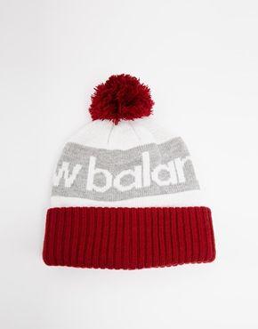 Enlarge New Balance Piste Bobble Hat in Burgundy  c024bedae49