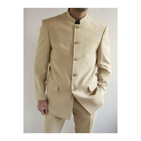 Mesure Sur Noir Costume Homme Col Mao Wpztukiox gvyf7mYb6I