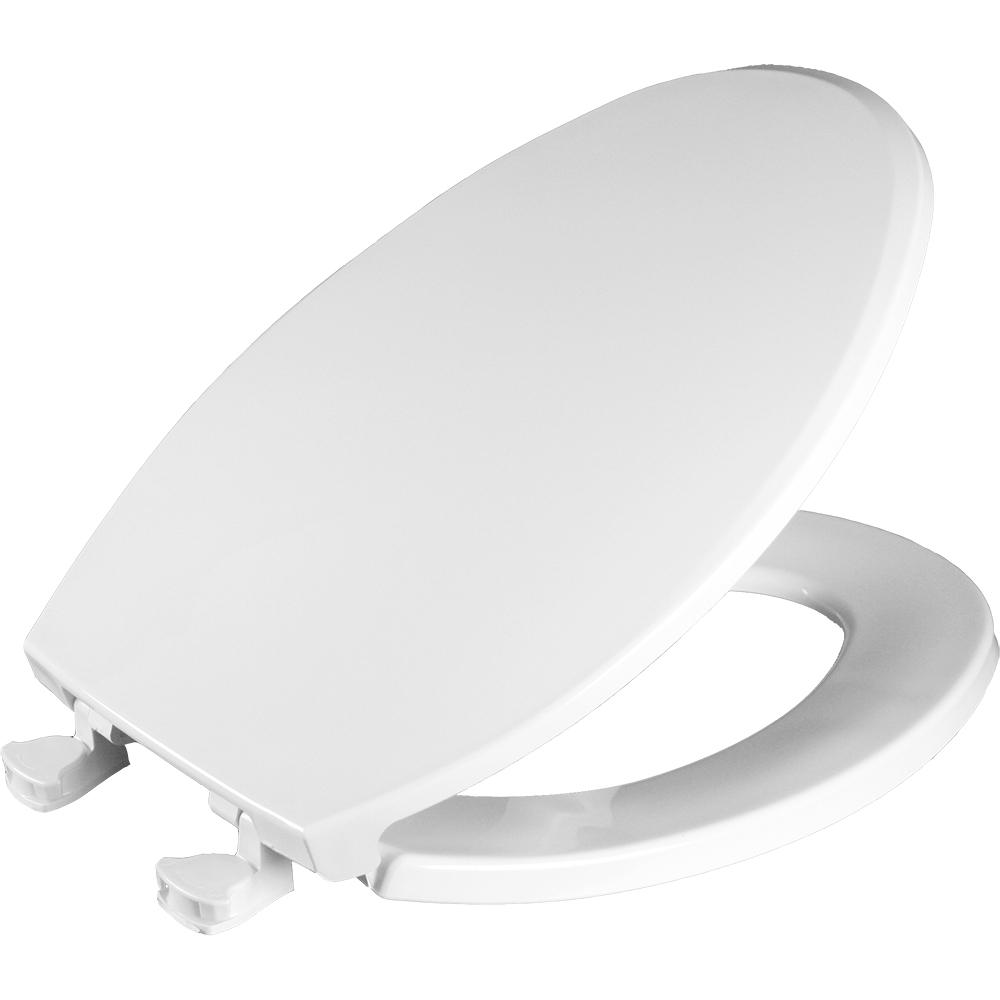 Bemis Lift Off Elongated Closed Front Toilet Seat In White