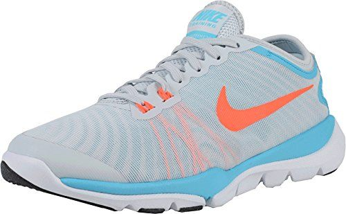 sale retailer 462d1 241fb New Nike Womens Flex Supreme TR 4 Women s Fitness and Cross-Training Shoes  Trainer PlatinumBlue 6     Check this awesome product by going to the link  at the ...