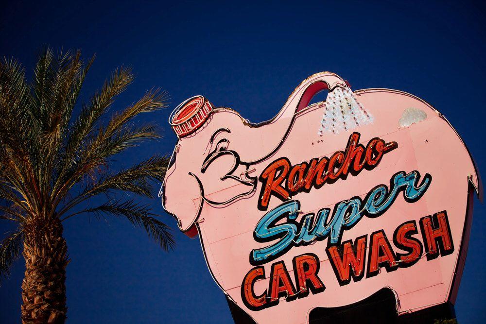 Rancho Super Car Wash Vintage Neon Sign, Rancho Cucamonga
