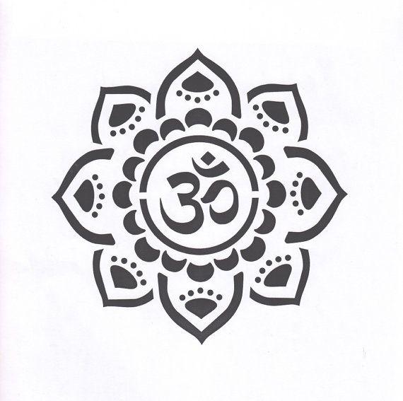 Mandala Stencil Yoga Stencil Om Mylar Stencil Om Stencil
