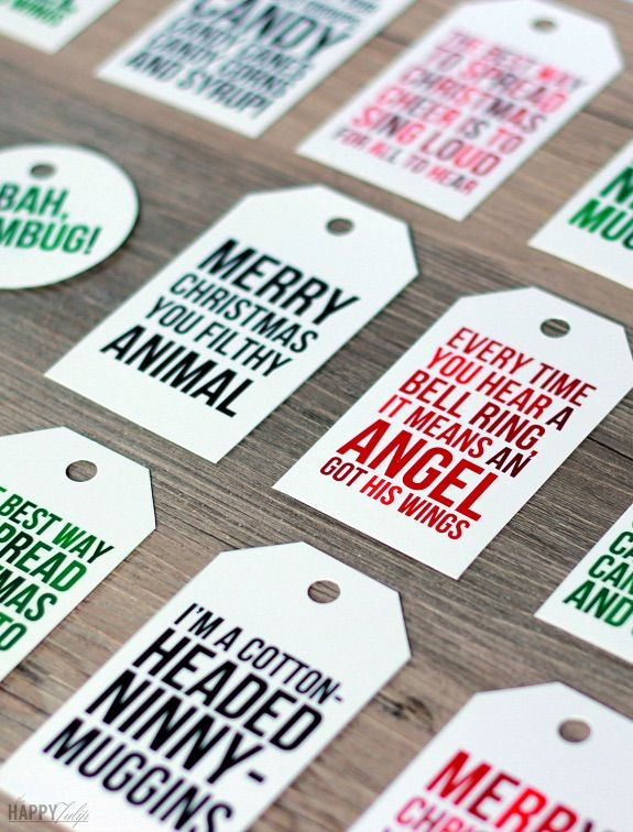 20 of the most amazing free printable holiday gift tags wrap negle Choice Image