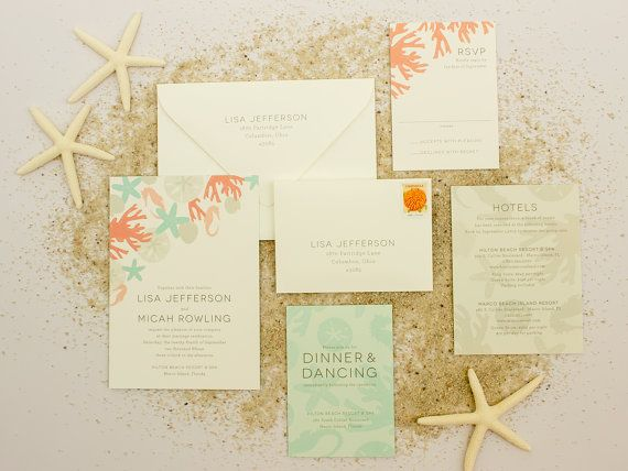 Beach Wedding Invitation Wording: Beach Wedding Invitations, Destination Wedding Invite