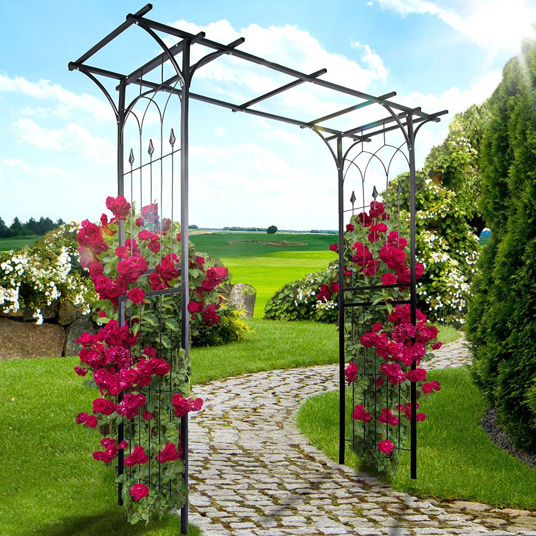 Set di 4 arco in ferro decorativo per rampicanti e giardino piante rampicanti