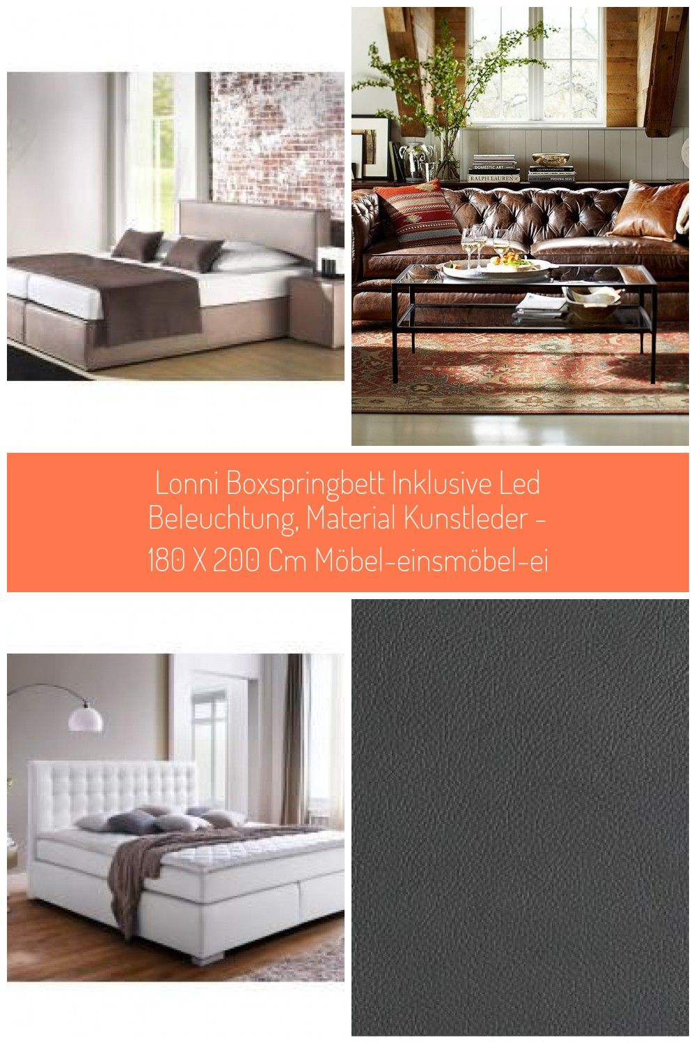 Places Of Style Boxspring Bett Carva 160x200 Cm Grau Places Of Styleplaces Of Style Leather Furniture Boxspringbette Led Beleuchtung Led Chesterfield Sofa