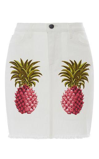 Pineapple Print Skirt by Giamba
