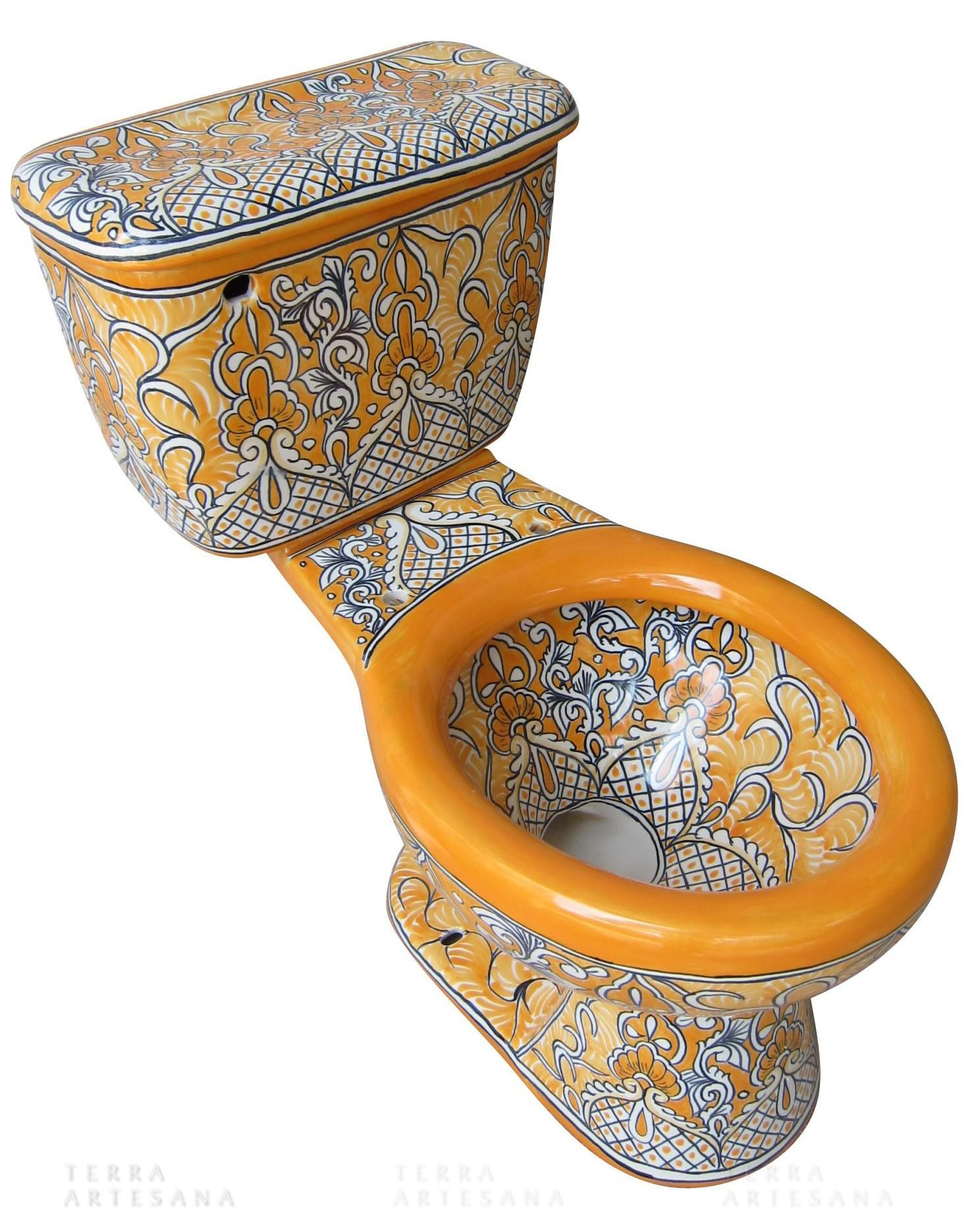 With a pedestal sink that goes with  Talavera, Talavera pottery