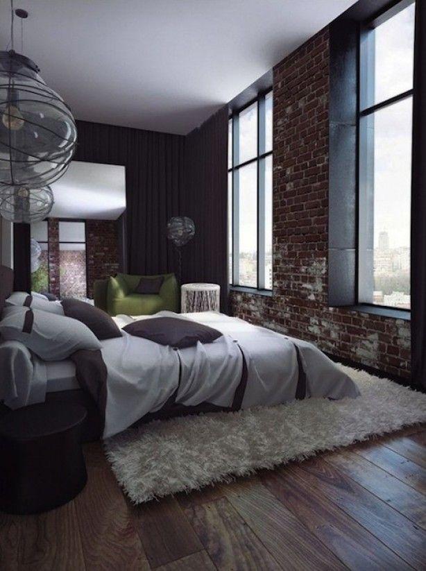 Heerlijke sfeervolle slaapkamer.Kleed is een goed idee zo onder het ...