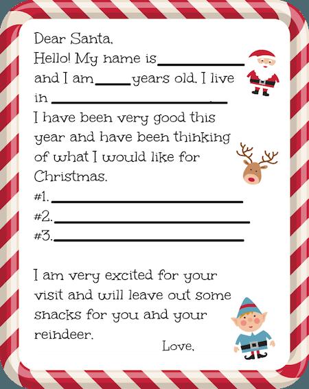 Christmas Freebies  Free Printable Santa Letters Free Printable