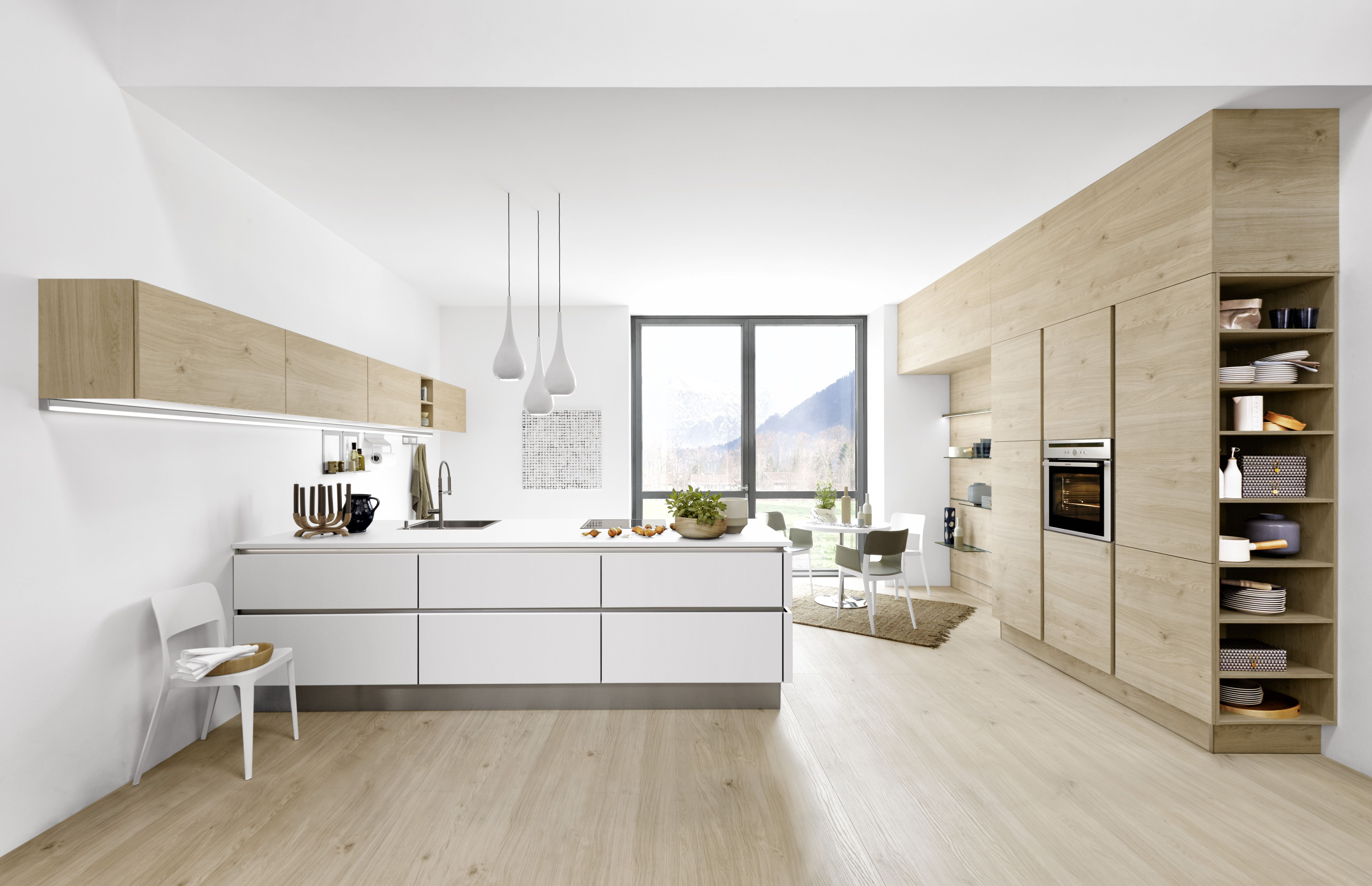 Modern white light wood kitchen. Perfect kitchen for your modern ...
