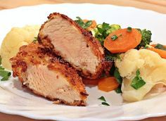 Manus Küchengeflüster: Hähnchen in Röstzwiebelpanade mit Varomagemüse