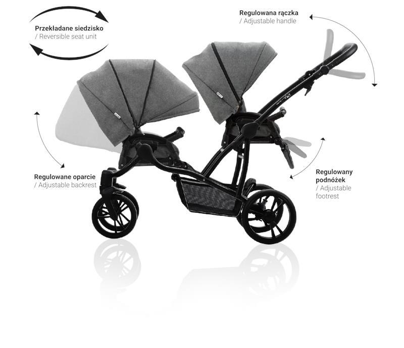 Bebetto 42 Simple Wozek Blizniaczy 2w1 Baby Strollers Stroller Simple