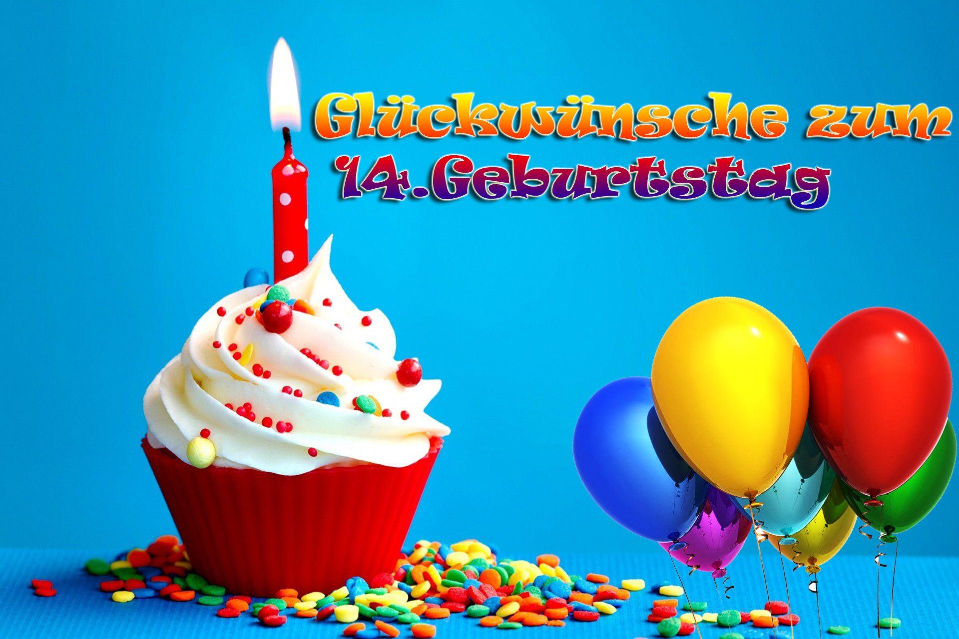 Ortsschild Deko Bild Geschenkidee Zum 14 Geburtstag Gluckwunsch