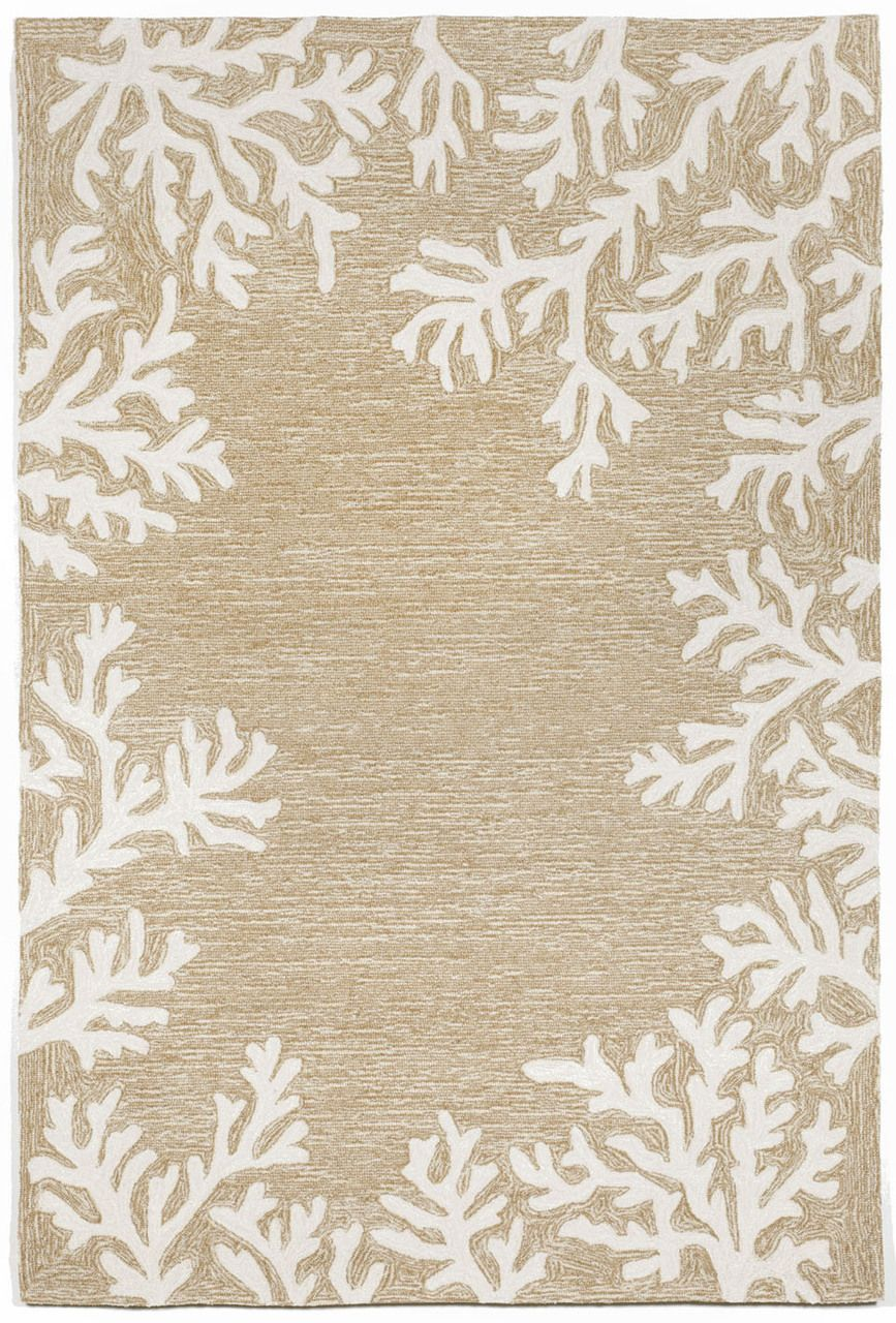 Coral Bordered Beige Area Rug With Images Neutral Area Rugs