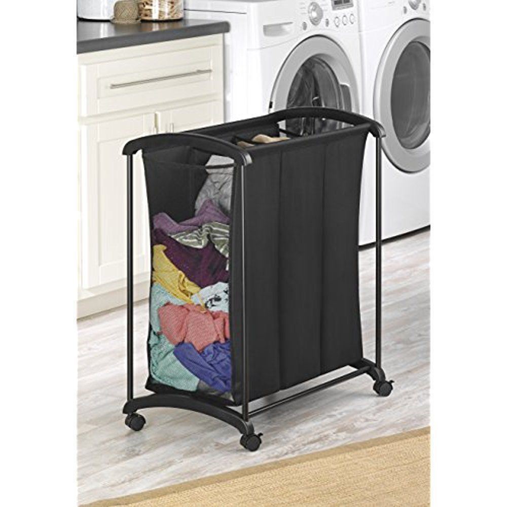 Details About Laundry Hamper Sorter With Wheels Ironing Board Cart