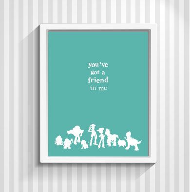 Toy Story Poster Buzz Lightyear Woody Kids Quote By Popartpress