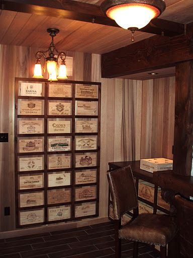 Wine Box Decor Victorian Style Study Decorated With Wooden Wine Crates Wine