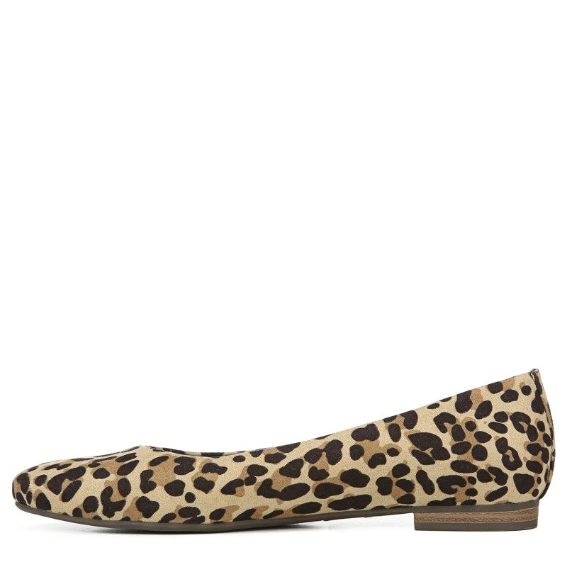 67cee7c0b9a Dr. Scholl s Women s Aston Medium Wide Flat Shoes (Leopard Microfiber)