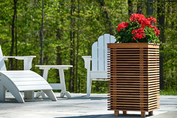 Piermont Outdoor Planter Speakers Are Made Of Teak Wood, Which Is Durable  And Naturally Water Resistant. Perfect For Pool, Patio, Garden And Yard, ...