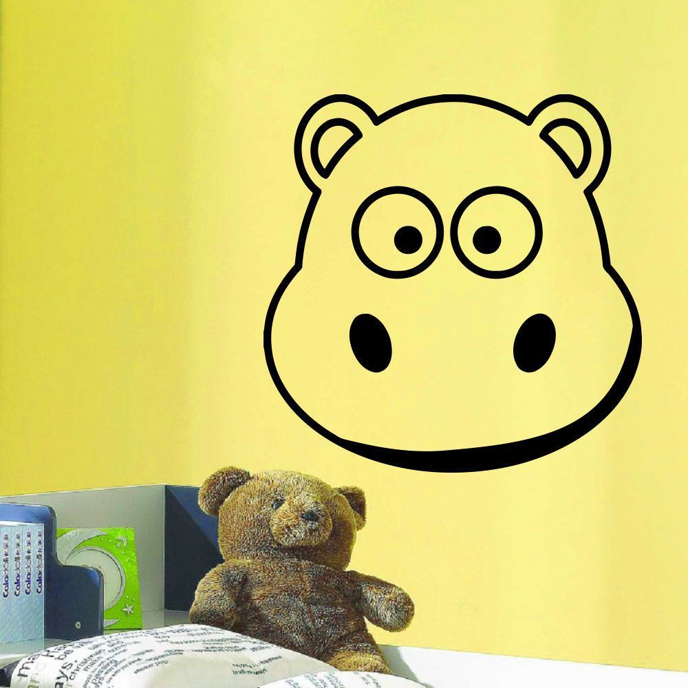 Little Muzzle Hippo Wall Art Sticker Decal   Products   Pinterest ...