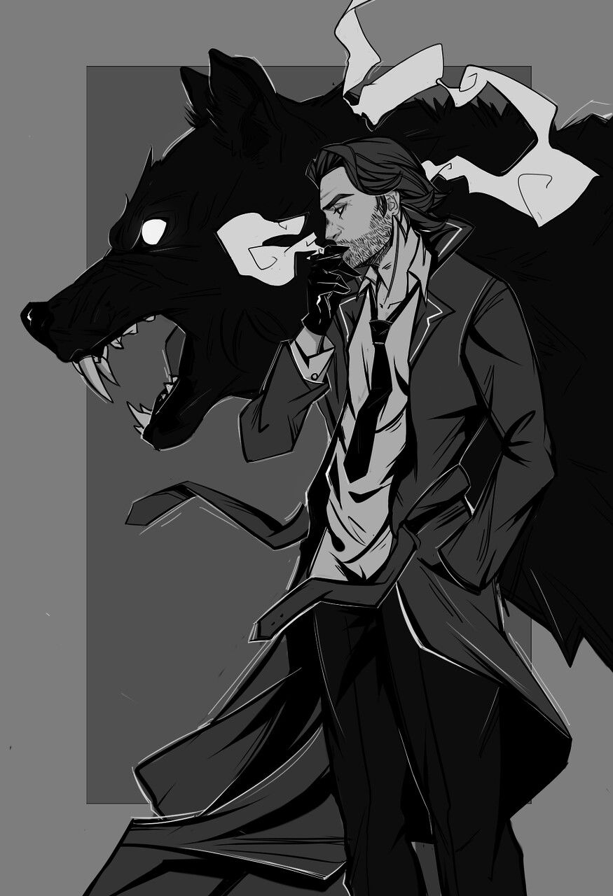 Cain Who Has Been Given The Form Of Man And Wolf In Order To Hunt For Azrael Lauren S The Wolf Among Us Character Art Wolf Art