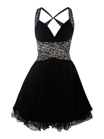 Black and White Two Strap Short Formal Dresses