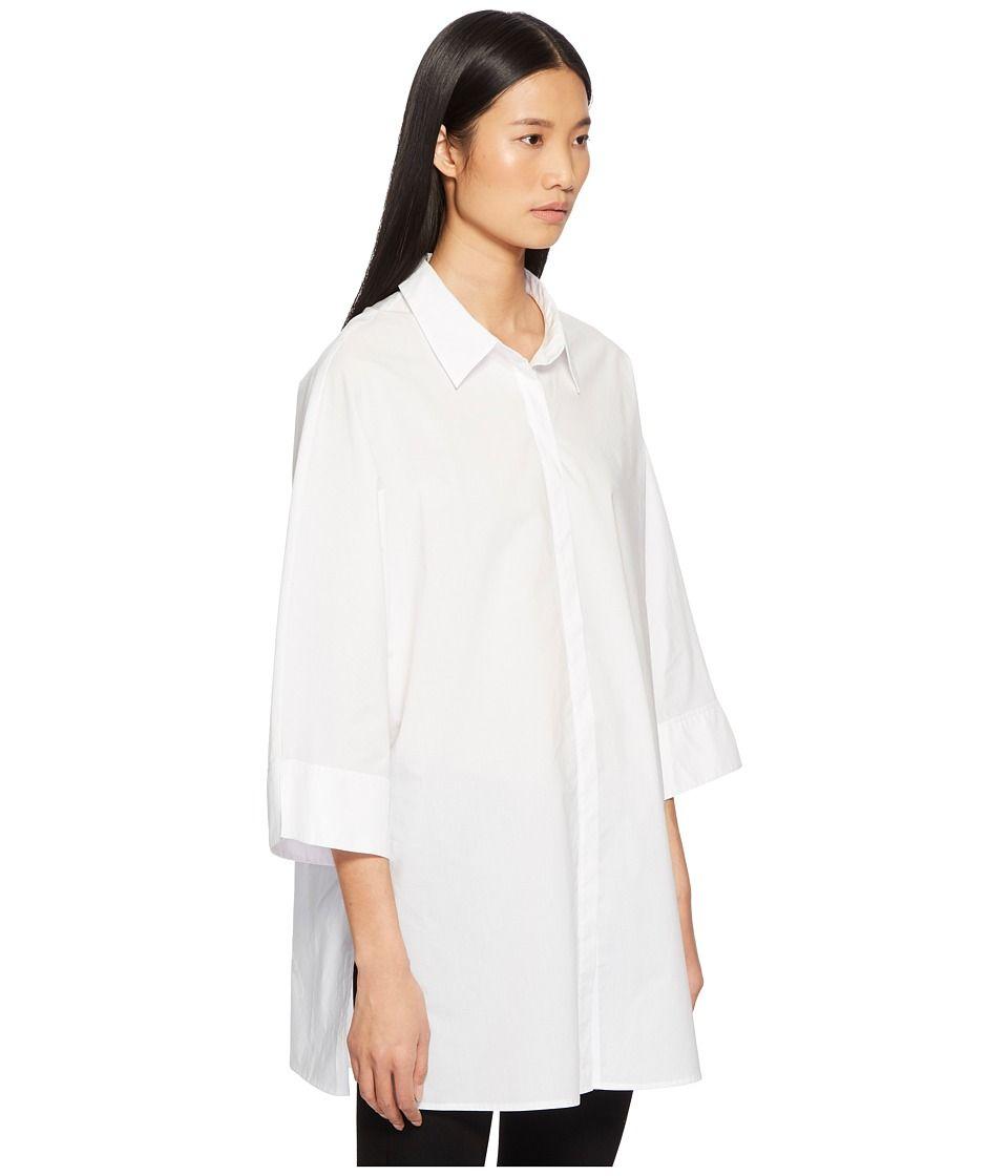 c6c871485 ESCADA Sport Neighty Button Up 3/4 Sleeve Top Women's Clothing White ...