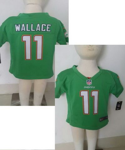 NFL Nike Kids Toddler Game Jerseys Miami Dolphins  11 Mike Wallace Green  Jersey b7651d939