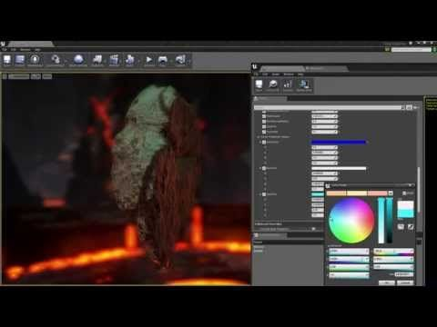 Basic Rock Material Unreal 4 Youtube With Images