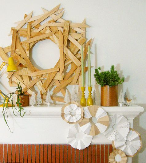 awesome wreath idea! something the kids could help me with too