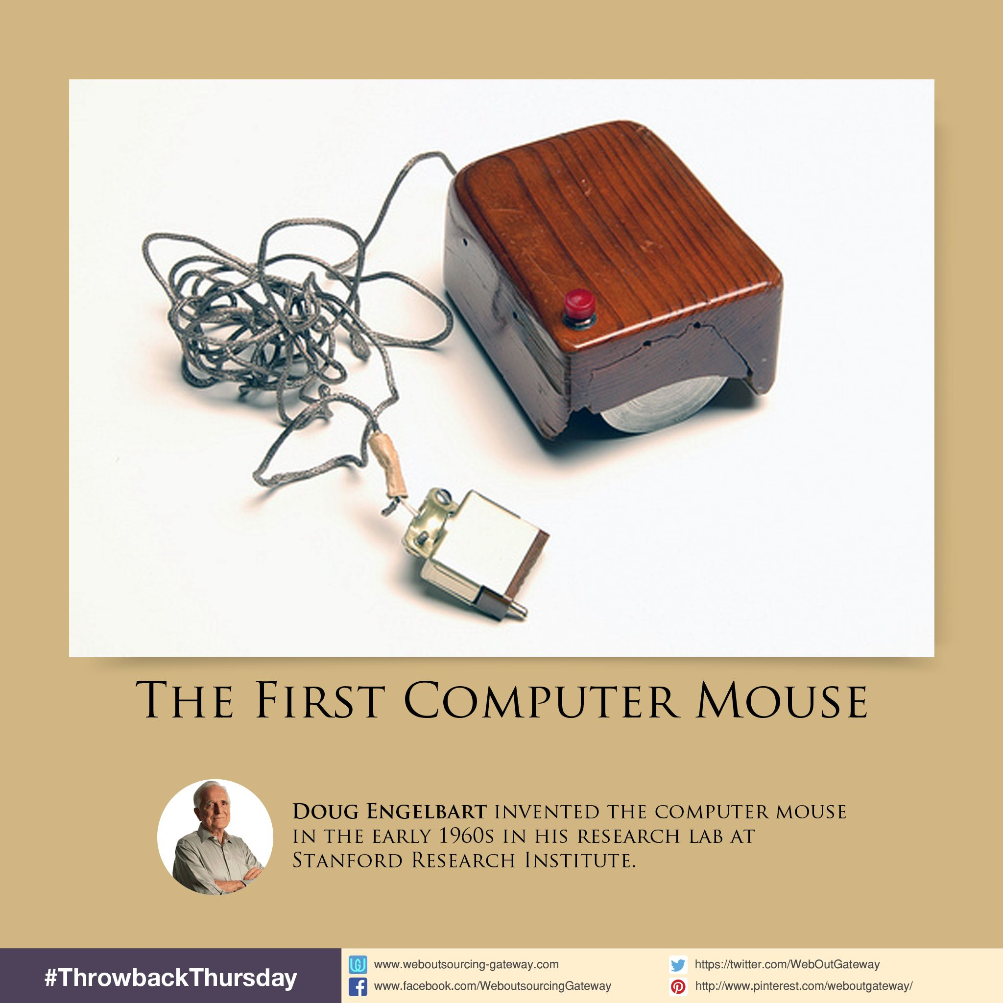 Douglas Engelbart invented the first prototype computer