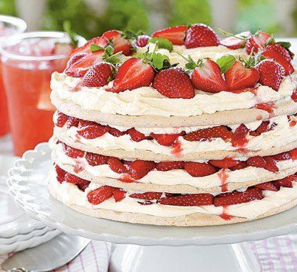 No recipes provided. Good idea for meringue n cream. Different from the traditional pavlova.