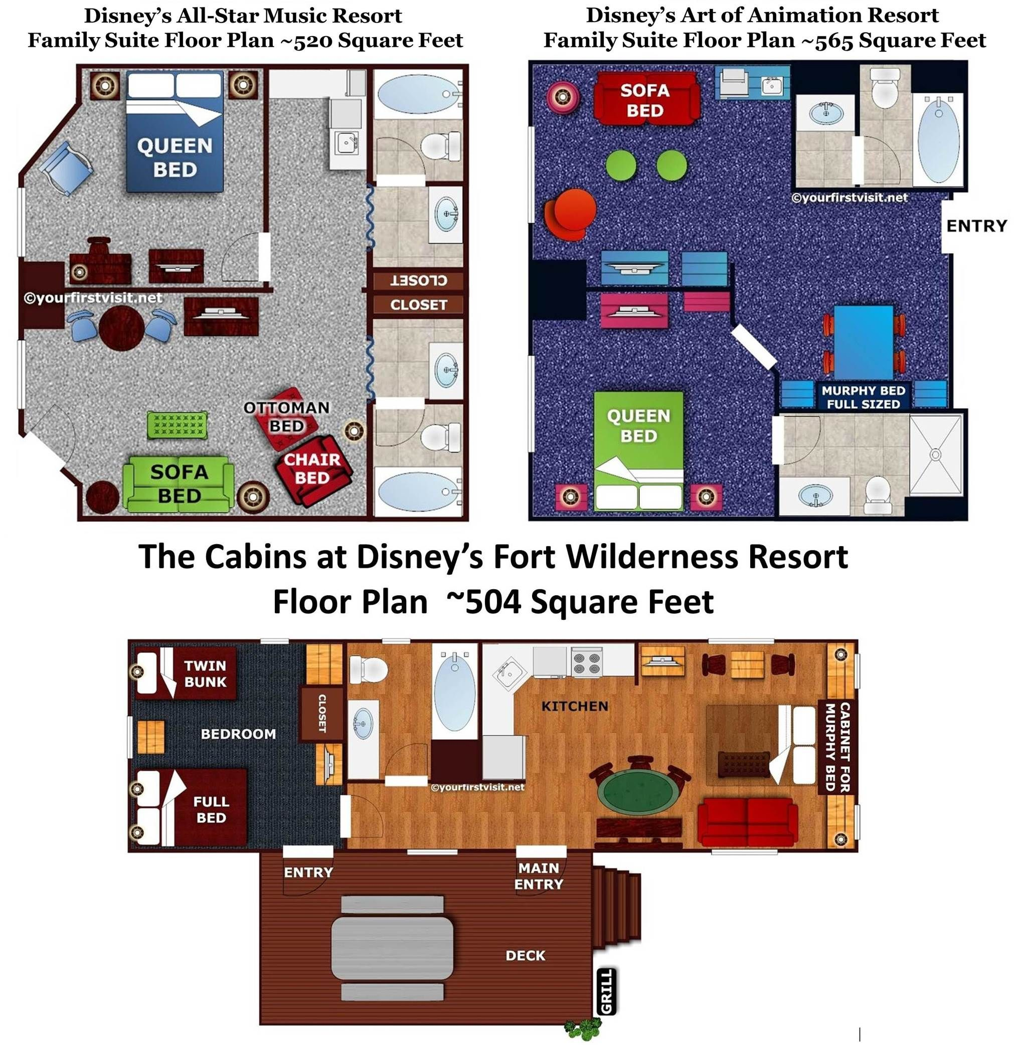 Review: The Family Suites at Disney\'s All-Star Music Resort ...