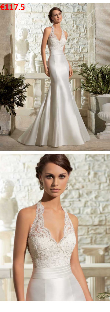 New Mermaid Style / Mermaid Style Halfter Reißverschluss Sweep / Brush Train Satin Bridal Registry Office