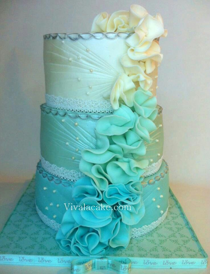 blue ombre wedding cake blue ombre wedding cake cake design wedding cakes 11997