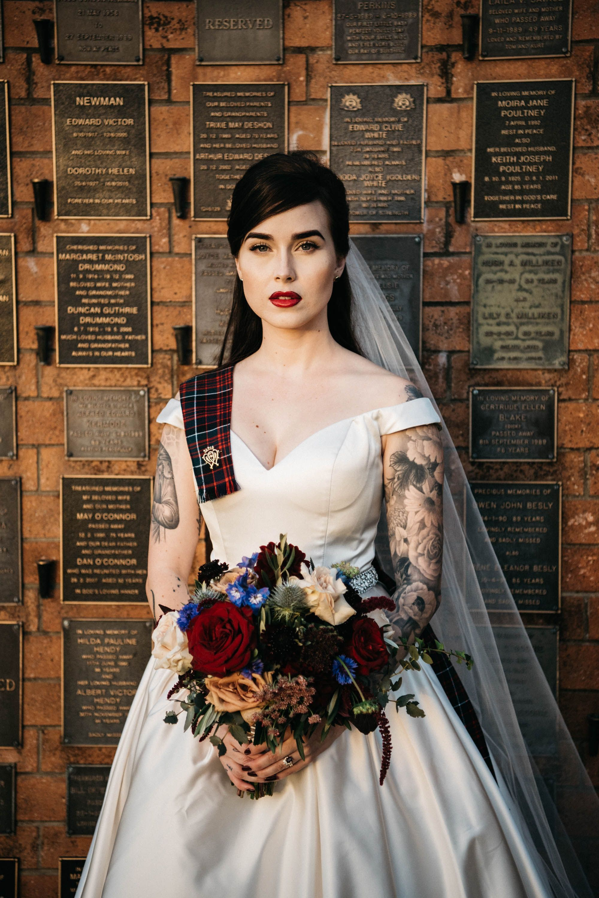 Dark Romantic Cemetery Wedding With Traditional Scottish Touches In 2020 Scottish Wedding Dresses Dress Code Wedding Scottish Wedding Themes