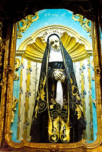 'One of the many icons in a very old church in Remedios, Cuba'