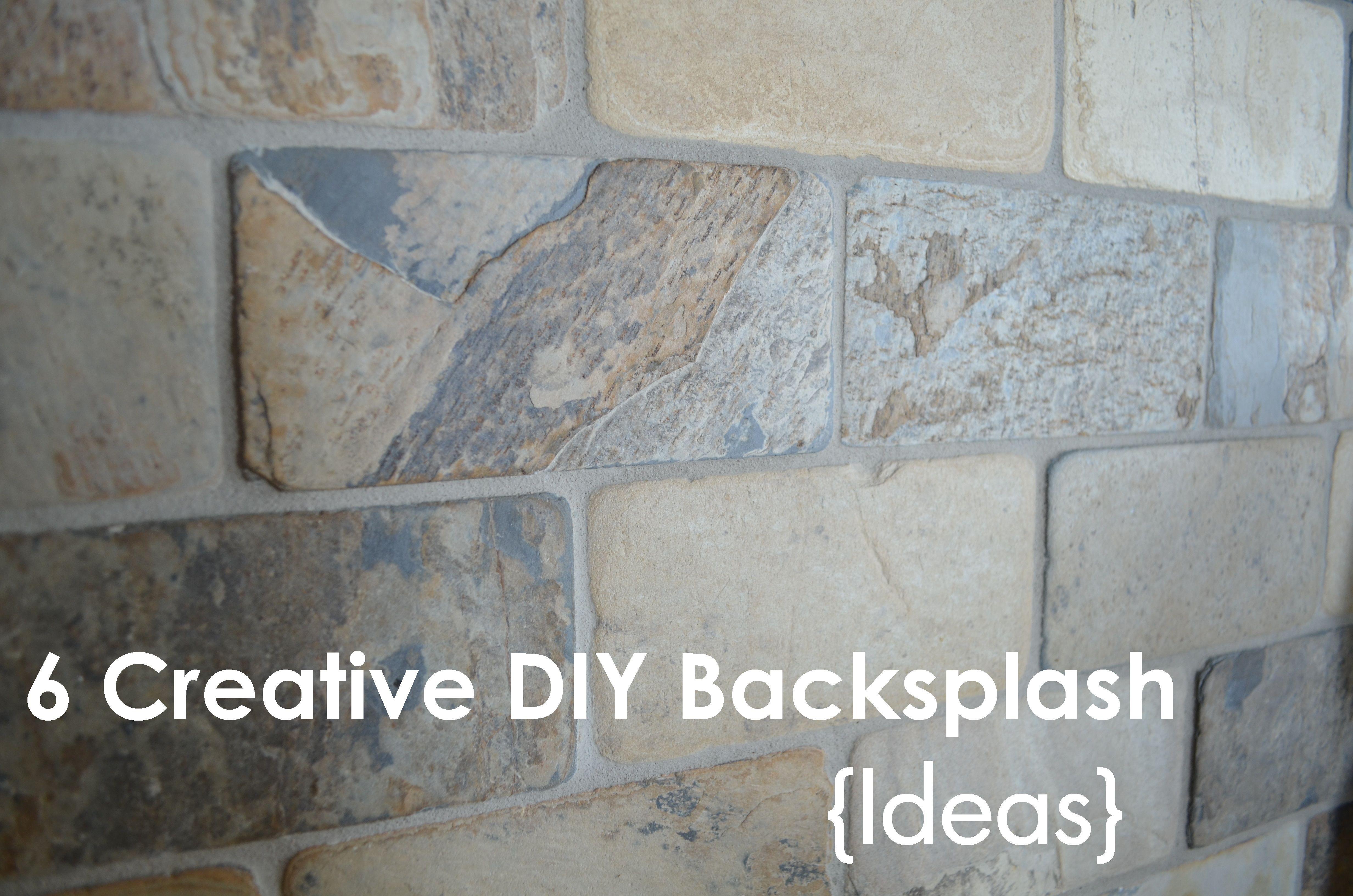 6 Backsplash Ideas 1 Beadboard 2 Subway Tile 3 L And Stick 4 Board Batten 5 Diy Brick Wallpaper