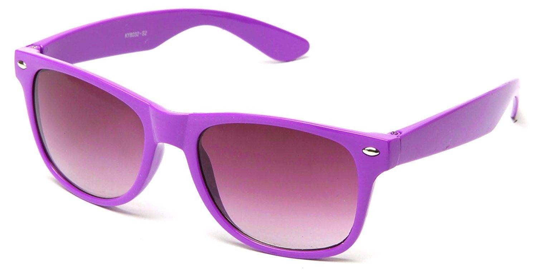 f0e0c2fa1cf Wayfarer Retro 80 s Sunglasses Costume Cosplay Blue Brothers Comfort Fit -  Lavender - CS126UPCZ2L - Women s Sunglasses