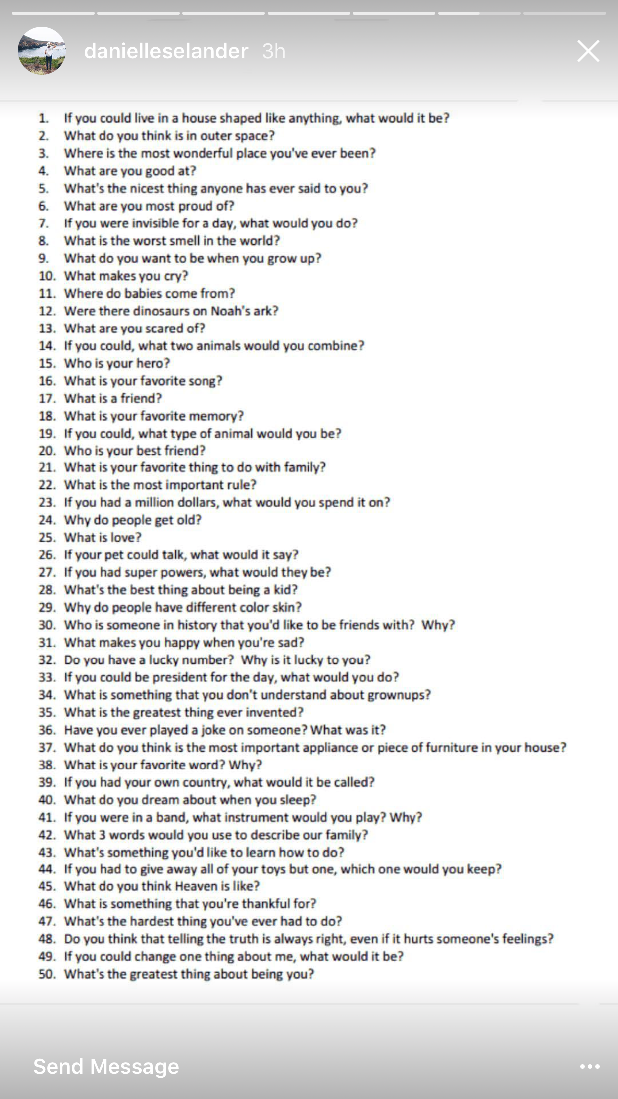 Get To Know You Questions