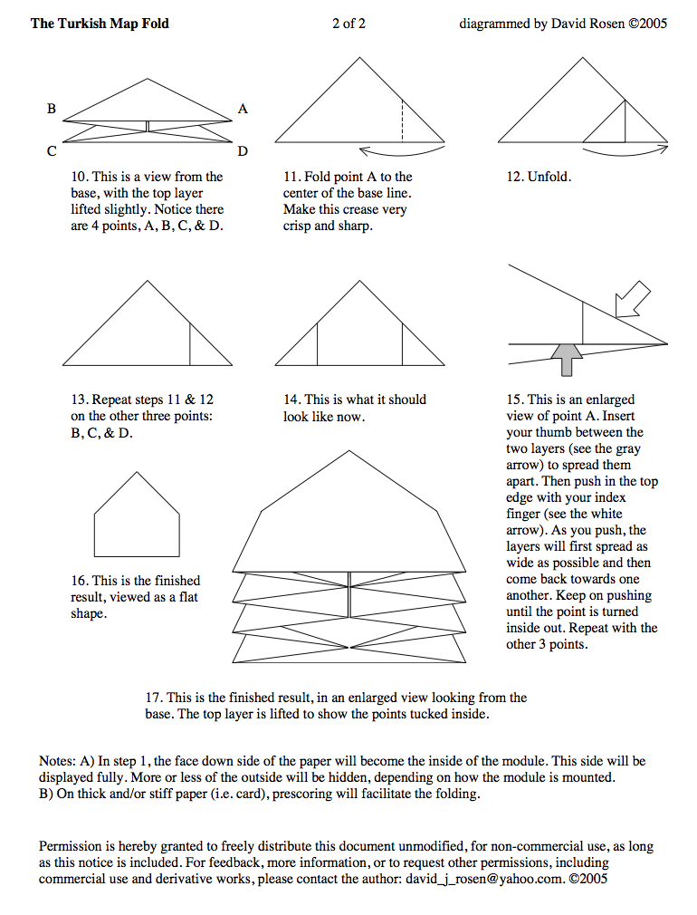 turkish map fold part 2 mappage pinterest origami books and rh pinterest com