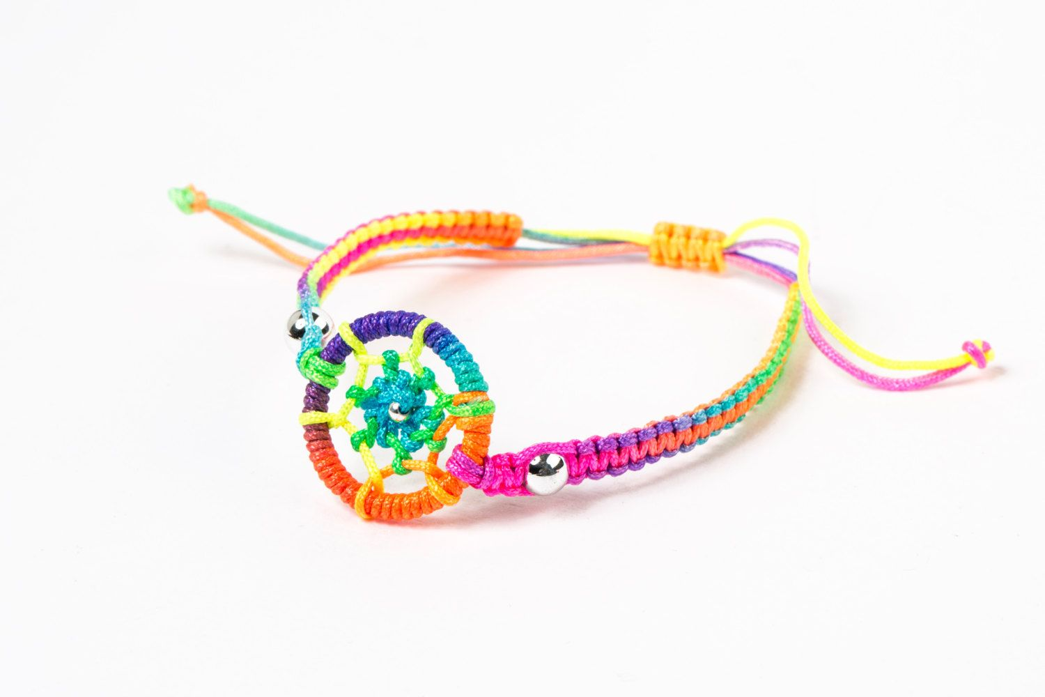 Dream catcher charm rainbow men bracelet protection bracelet